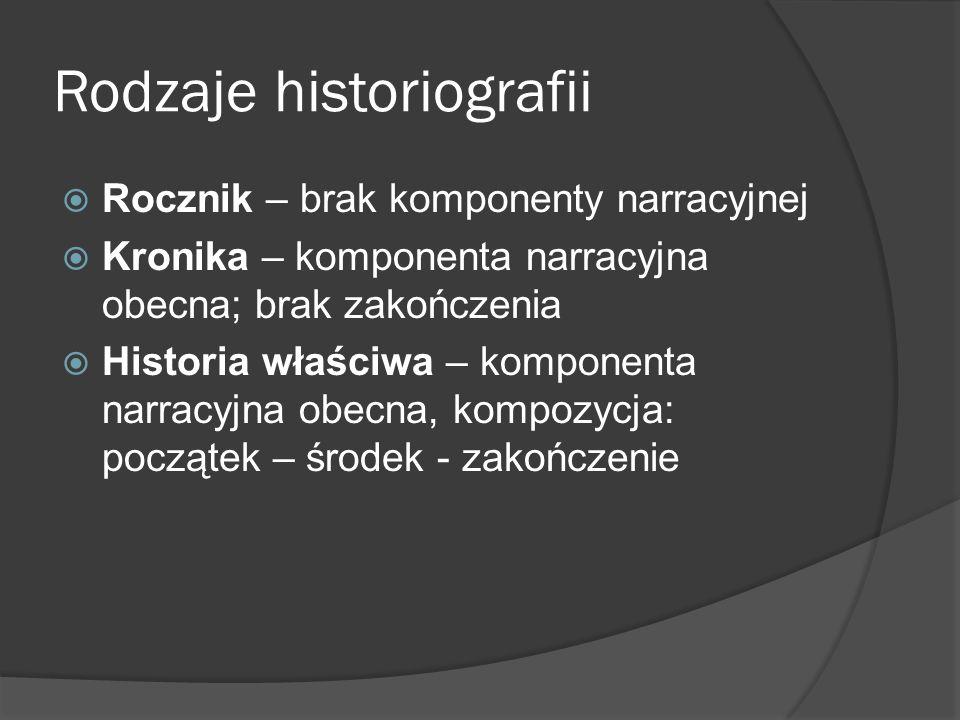 Rodzaje historiografii
