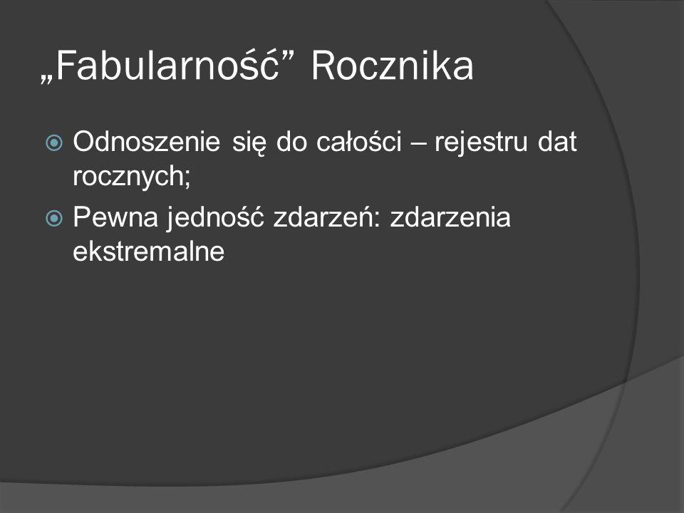 """""""Fabularność Rocznika"""