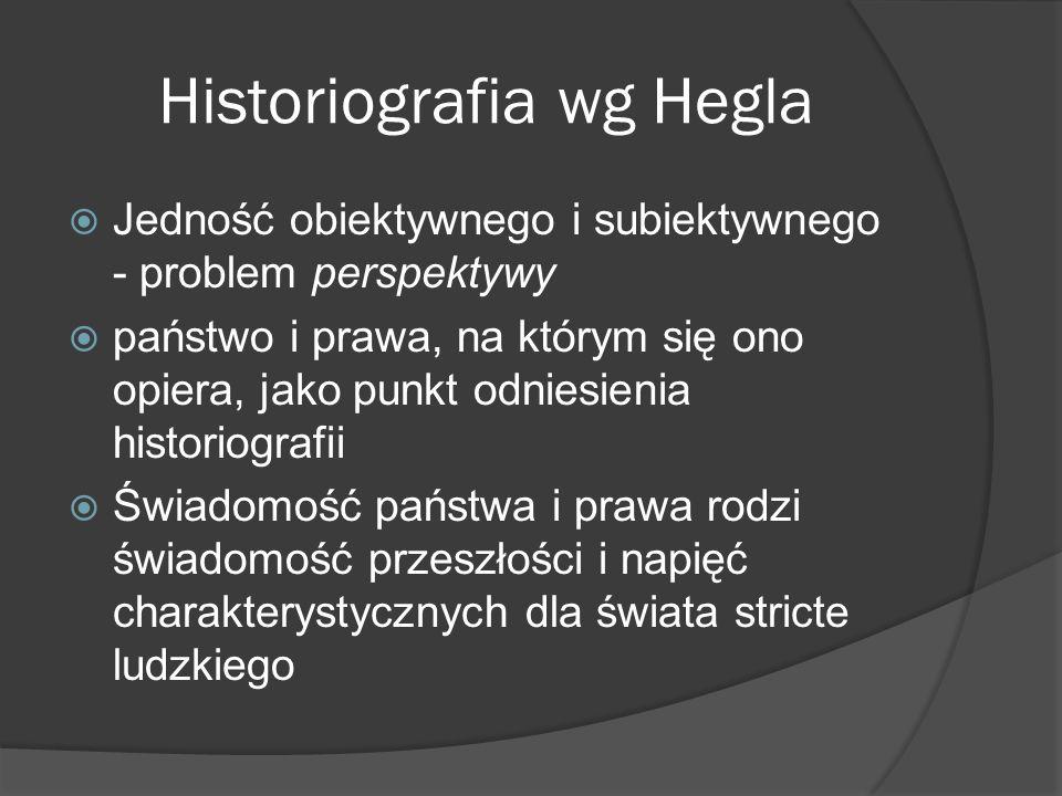 Historiografia wg Hegla