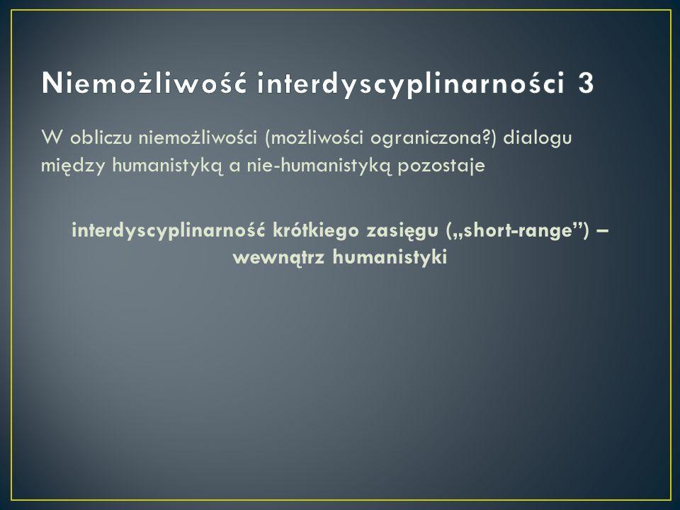 Niemożliwość interdyscyplinarności 3