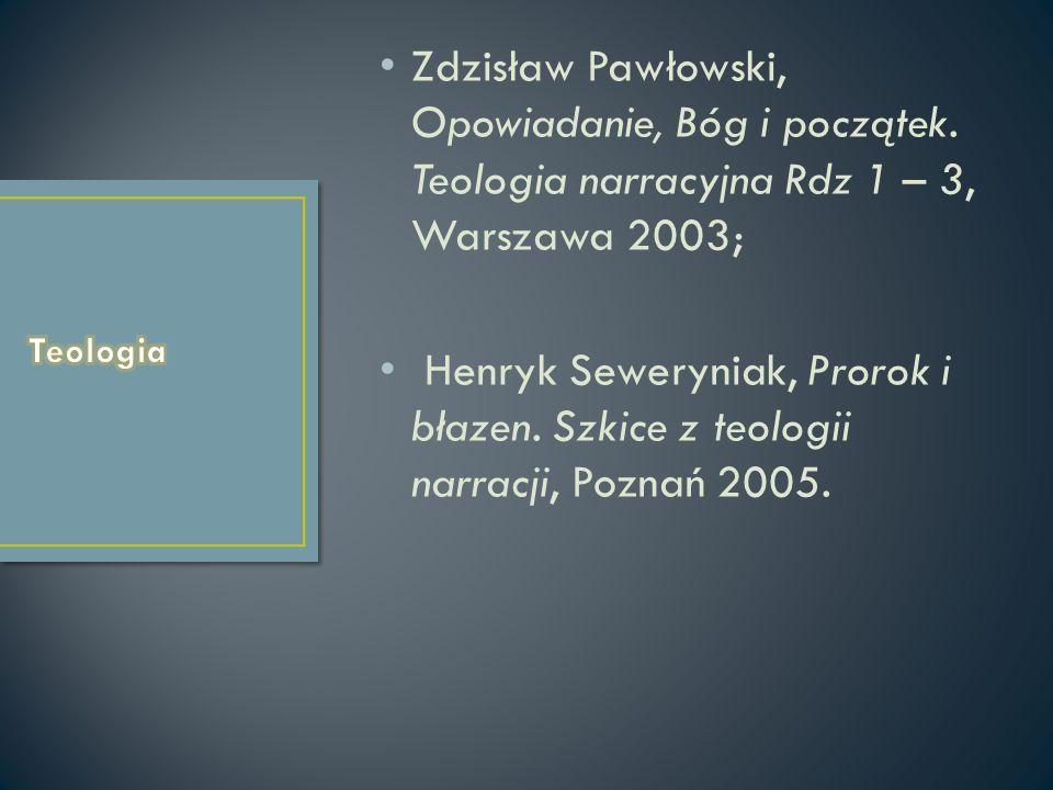 Zdzisław Pawłowski, Opowiadanie, Bóg i początek