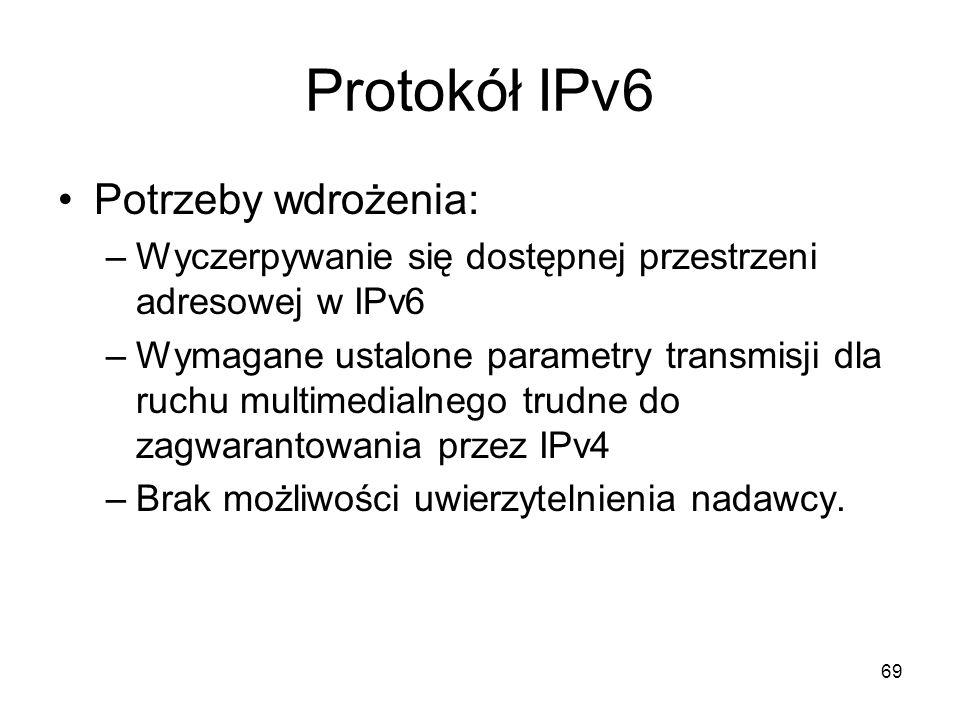 Protokół IPv6 Potrzeby wdrożenia: