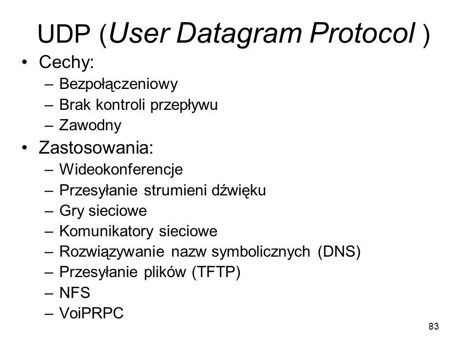 UDP (User Datagram Protocol )