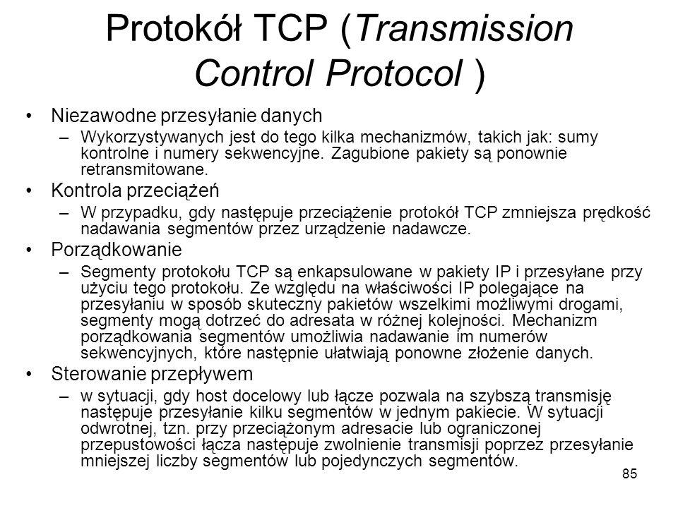 Protokół TCP (Transmission Control Protocol )