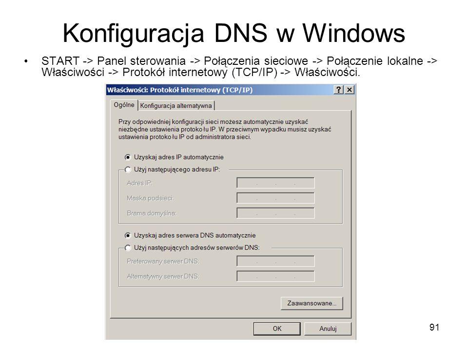 Konfiguracja DNS w Windows