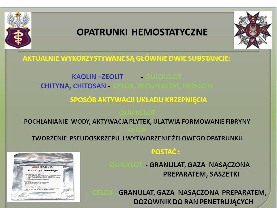 OPATRUNKI HEMOSTATYCZNE