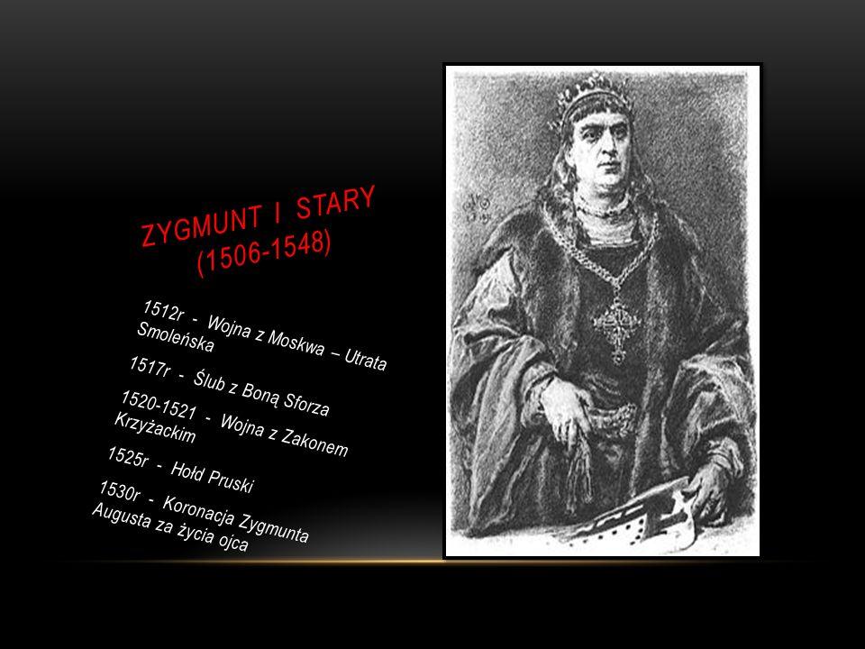 ZYGMUNT I STARY (1506-1548) 1512r - Wojna z Moskwa – Utrata Smoleńska