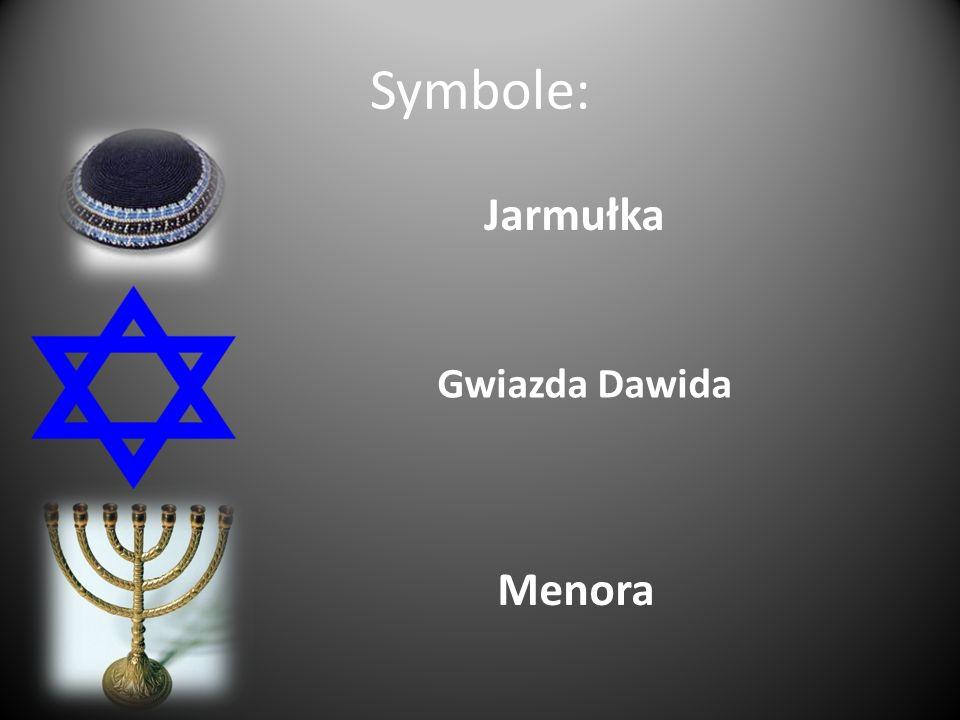 Symbole: Jarmułka Gwiazda Dawida Menora