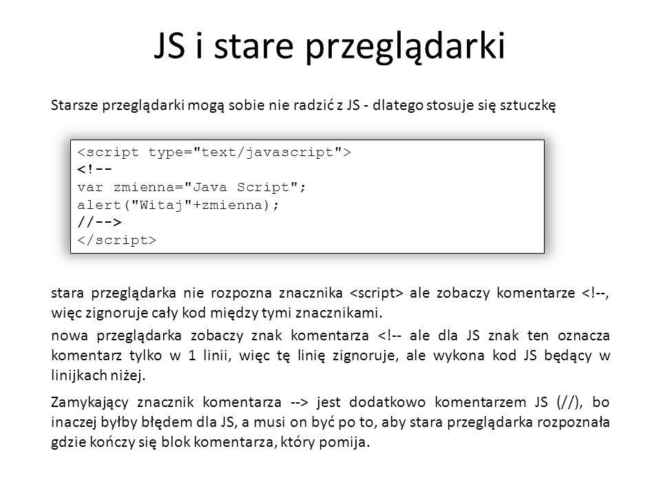 JS i stare przeglądarki