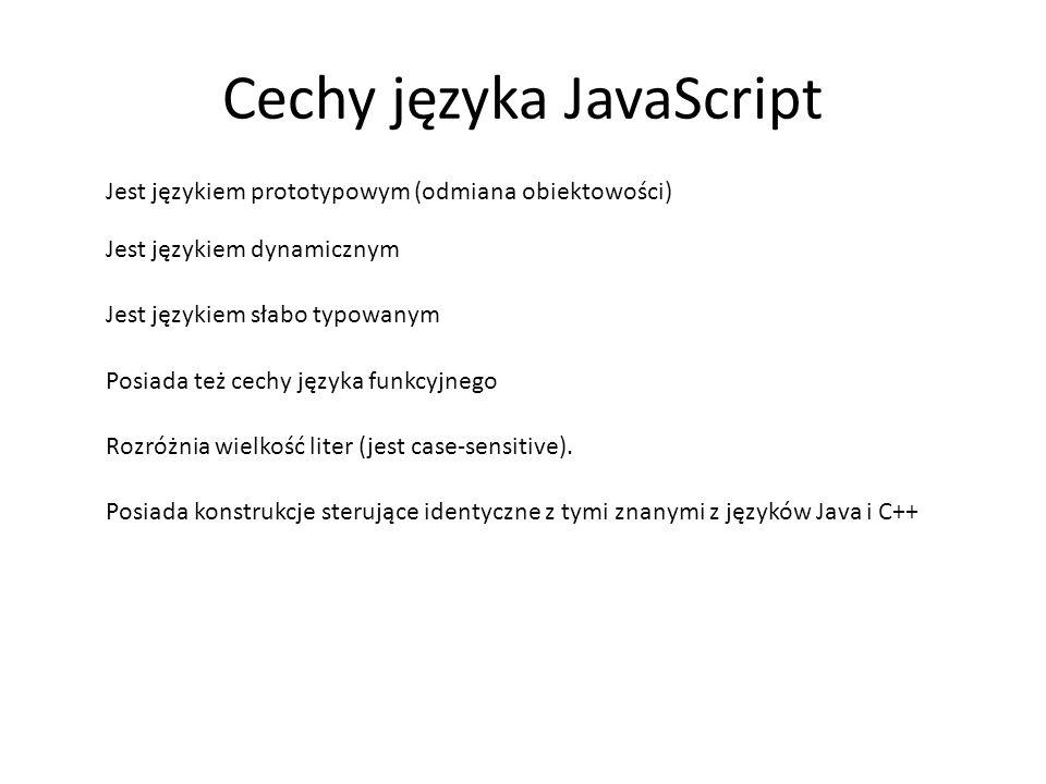 Cechy języka JavaScript