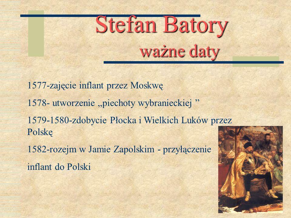 Stefan Batory ważne daty