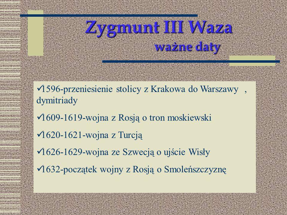 Zygmunt III Waza ważne daty