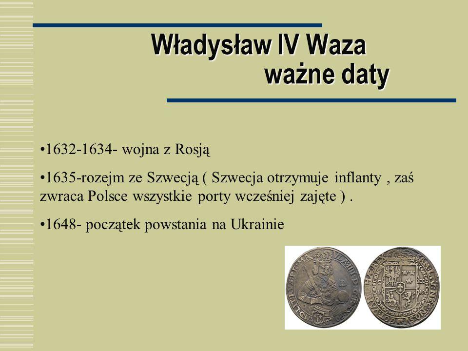 Władysław IV Waza ważne daty