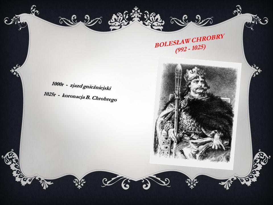 1025r - koronacja B. Chrobrego