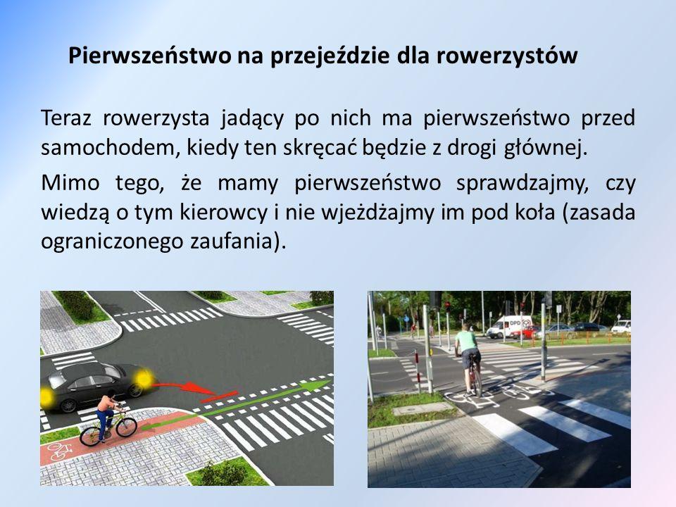Pierwszeństwo na przejeździe dla rowerzystów