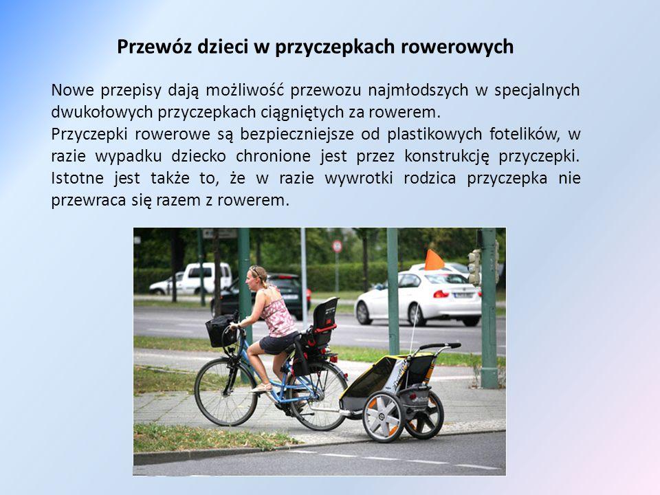 Przewóz dzieci w przyczepkach rowerowych