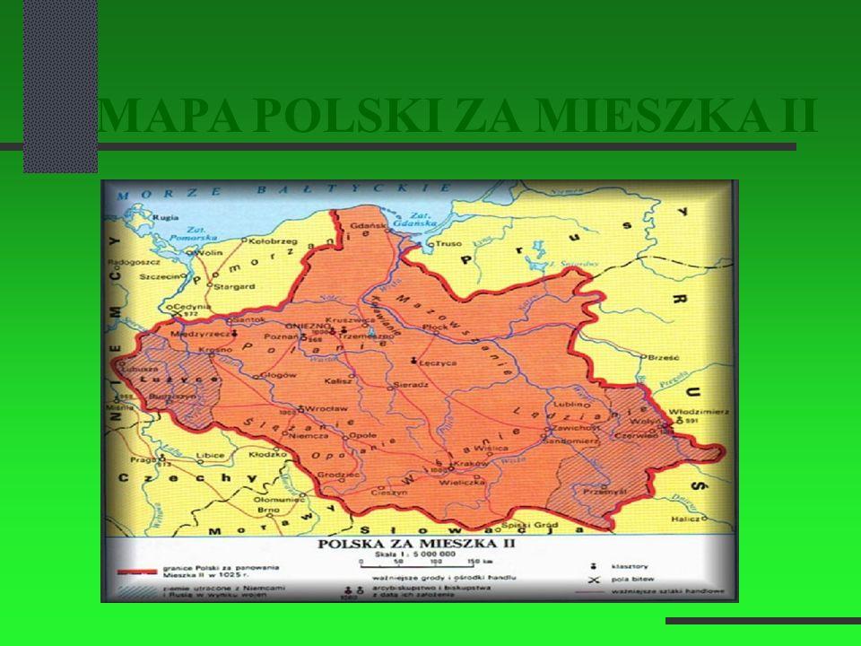 MAPA POLSKI ZA MIESZKA II