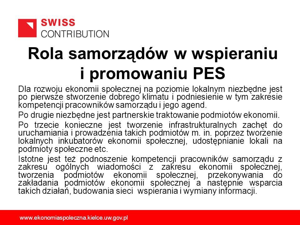 Rola samorządów w wspieraniu i promowaniu PES