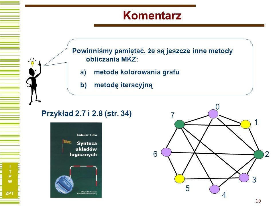 Komentarz 1 2 3 4 5 6 7 Przykład 2.7 i 2.8 (str. 34)