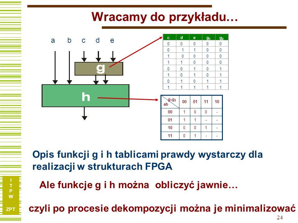 Wracamy do przykładu… c d e. a b. c. d. e. g1. g2. 1. - 10. 1. 11. 01. 00.