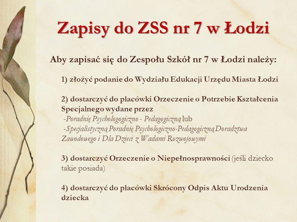 Zapisy do ZSS nr 7 w Łodzi