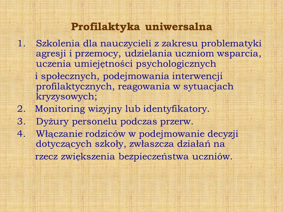 Profilaktyka uniwersalna