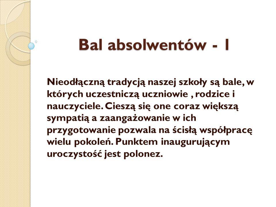 Bal absolwentów - 1