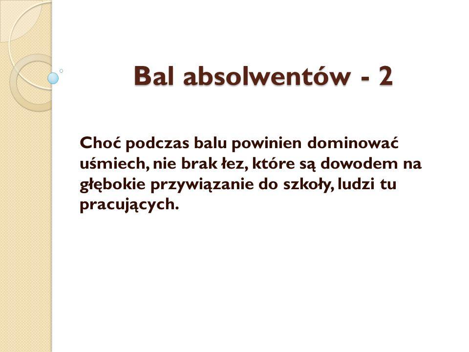Bal absolwentów - 2
