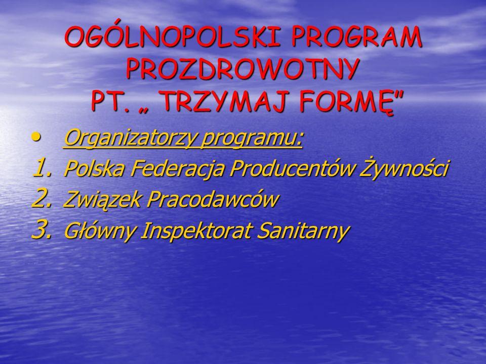 """OGÓLNOPOLSKI PROGRAM PROZDROWOTNY PT. """" TRZYMAJ FORMĘ"""