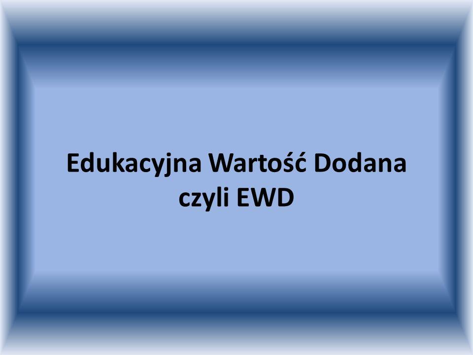 Edukacyjna Wartość Dodana czyli EWD
