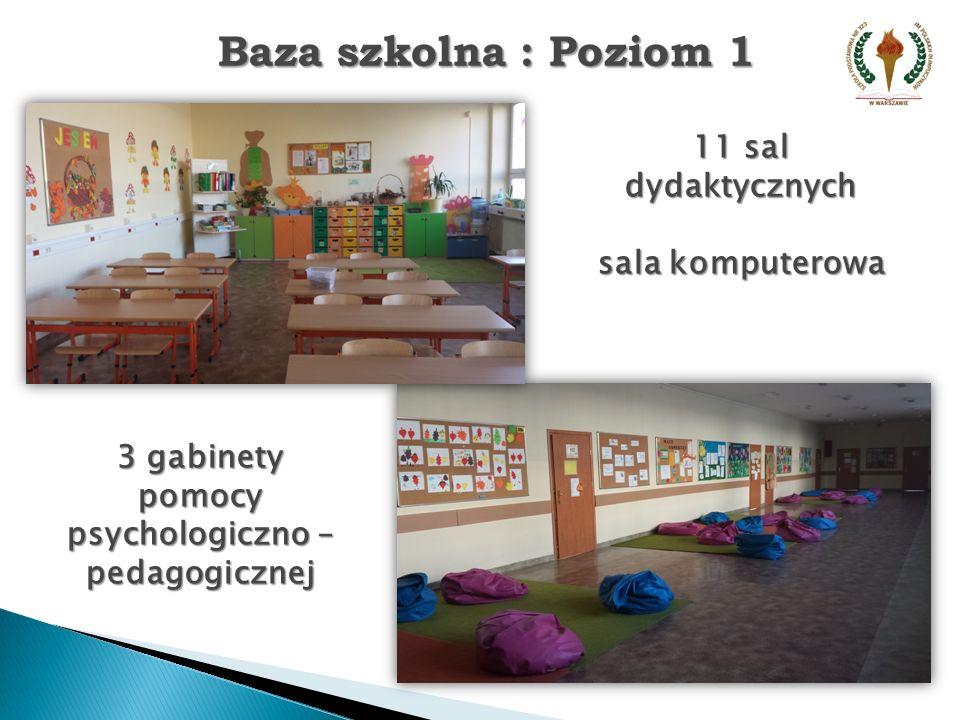 3 gabinety pomocy psychologiczno – pedagogicznej