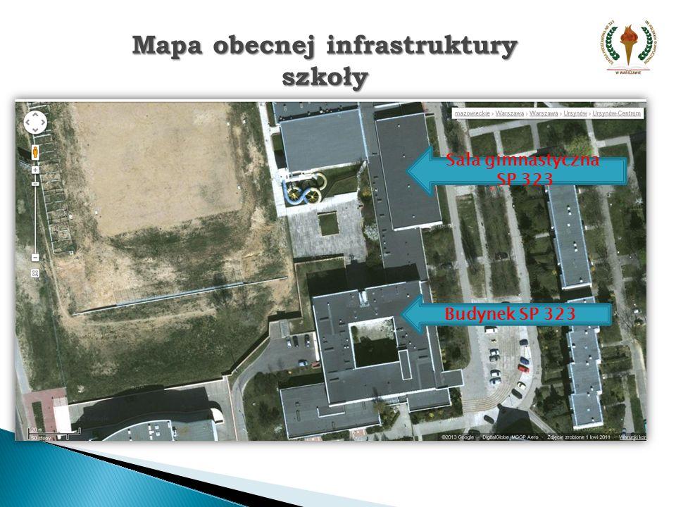 Mapa obecnej infrastruktury szkoły