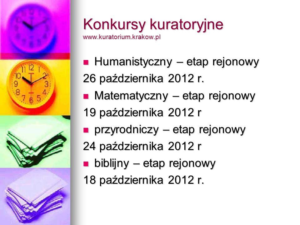 Konkursy kuratoryjne www.kuratorium.krakow.pl