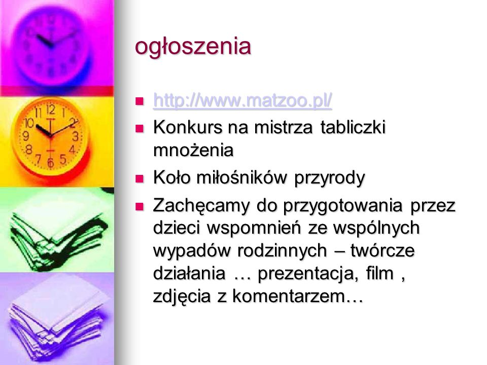 ogłoszenia http://www.matzoo.pl/ Konkurs na mistrza tabliczki mnożenia