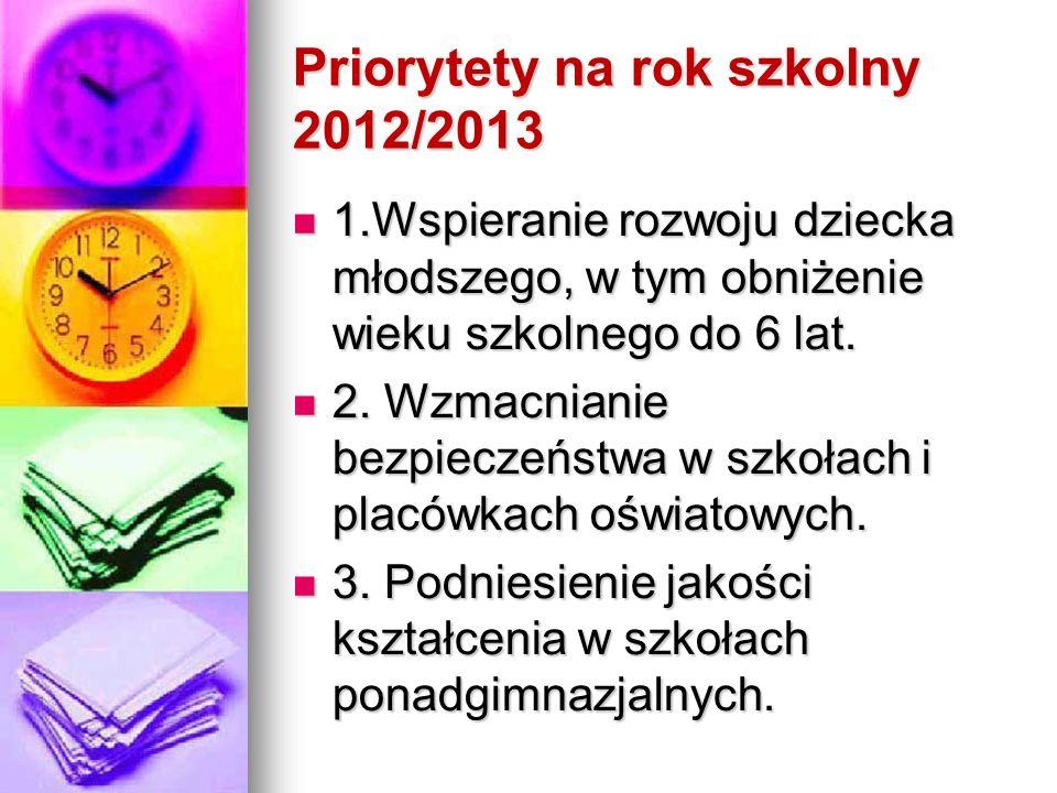 Priorytety na rok szkolny 2012/2013