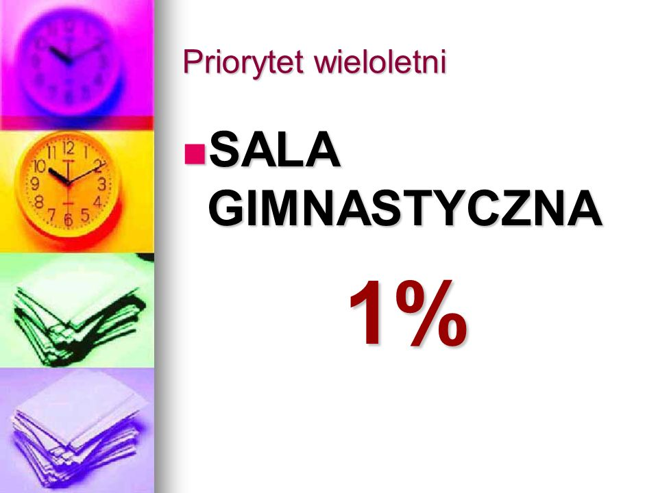 Priorytet wieloletni SALA GIMNASTYCZNA 1%