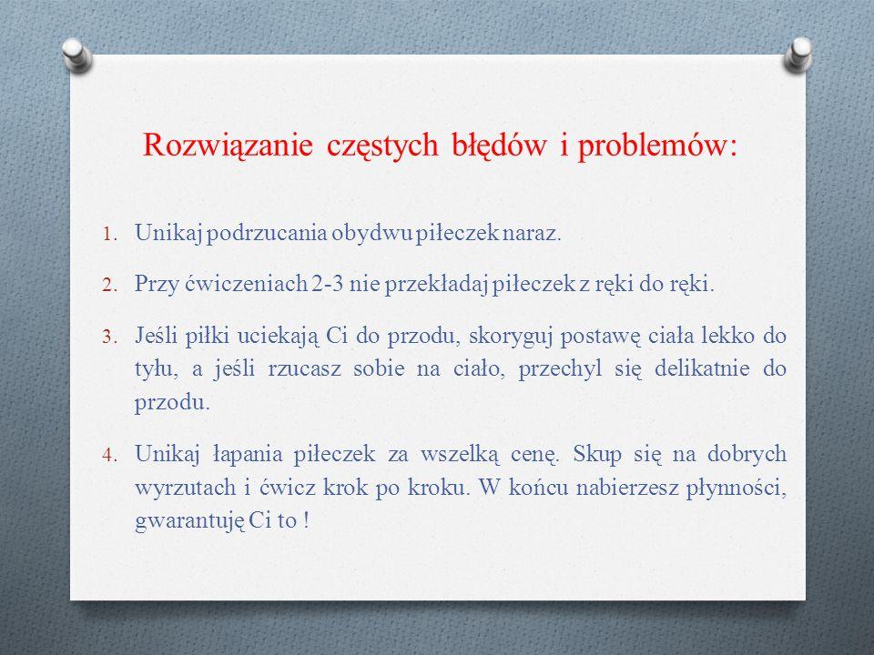 Rozwiązanie częstych błędów i problemów: