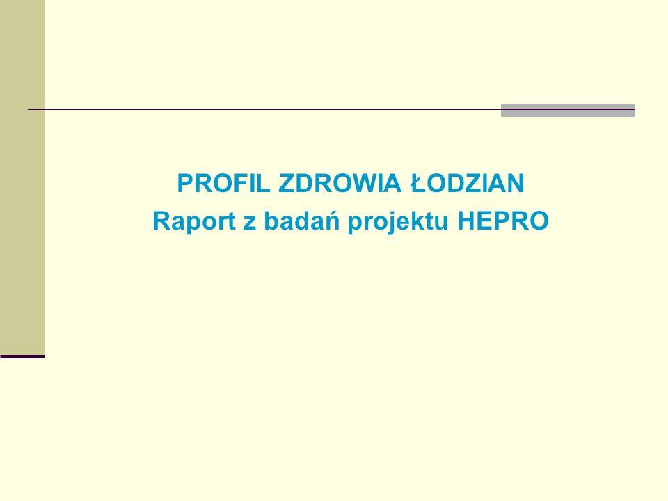 PROFIL ZDROWIA ŁODZIAN Raport z badań projektu HEPRO