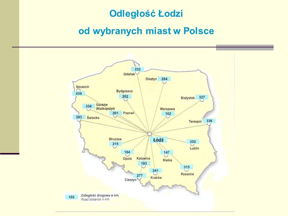 od wybranych miast w Polsce