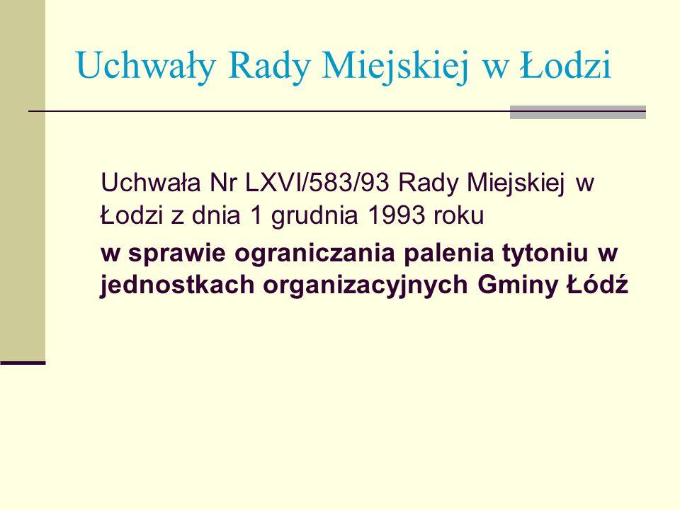 Uchwały Rady Miejskiej w Łodzi