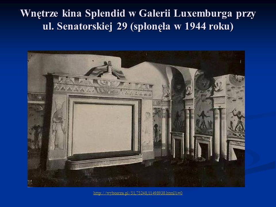 Wnętrze kina Splendid w Galerii Luxemburga przy ul