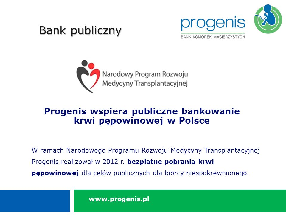 Progenis wspiera publiczne bankowanie krwi pępowinowej w Polsce