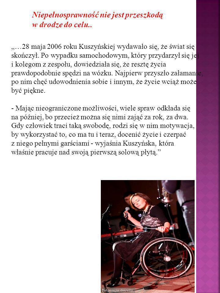 Niepełnosprawność nie jest przeszkodą w drodze do celu..