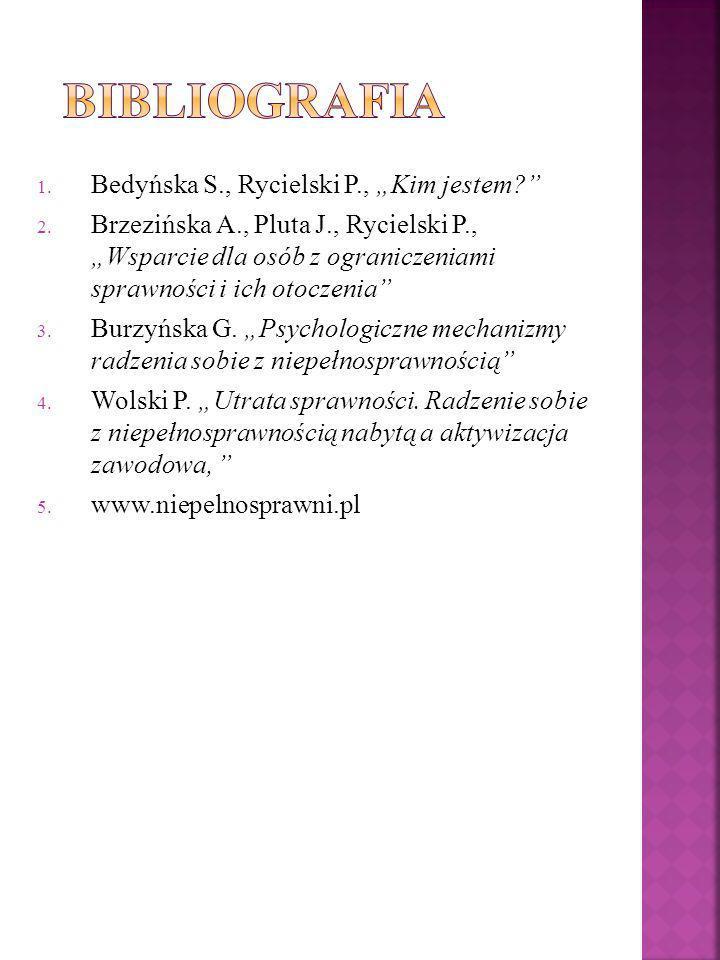 "Bibliografia Bedyńska S., Rycielski P., ""Kim jestem"
