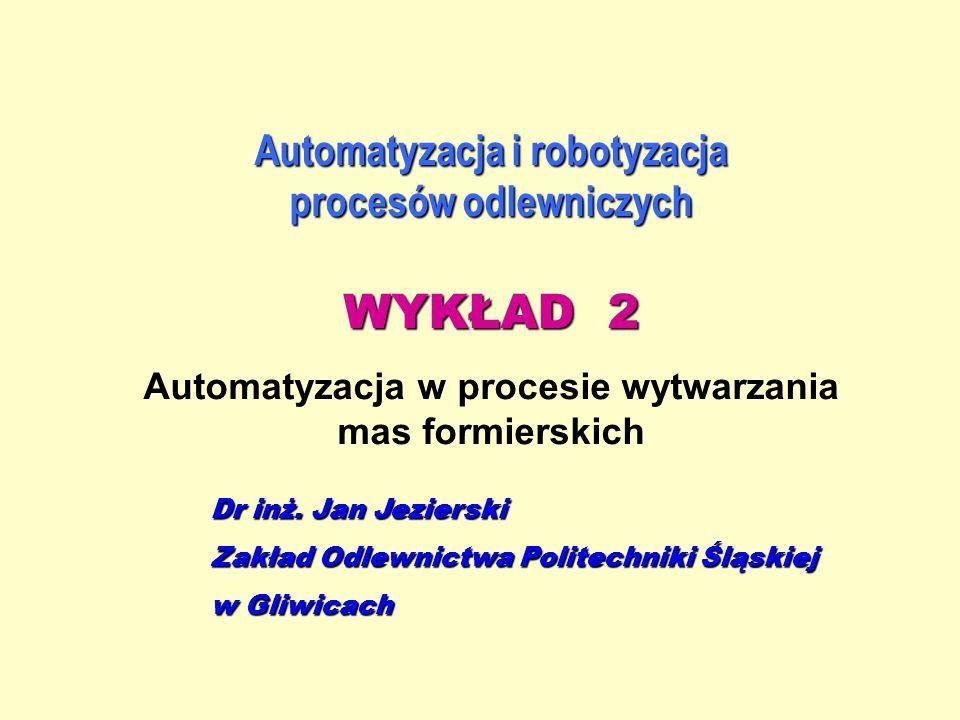 WYKŁAD 2 Automatyzacja i robotyzacja procesów odlewniczych