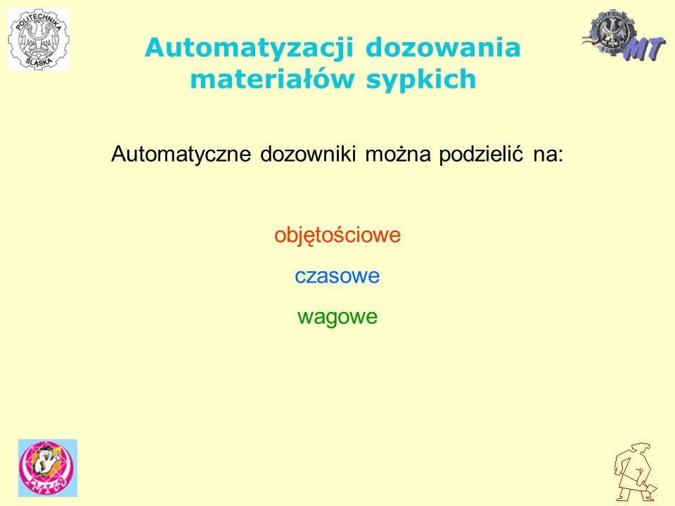 Automatyzacji dozowania materiałów sypkich
