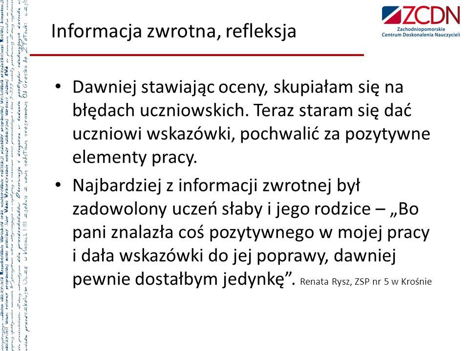 Informacja zwrotna, refleksja