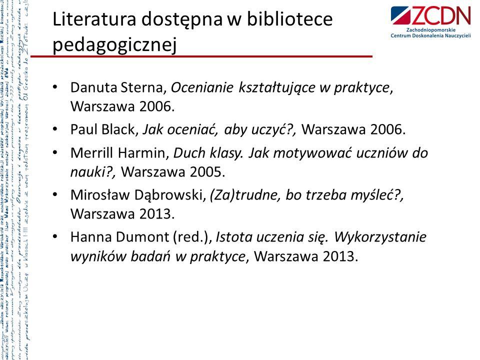 Literatura dostępna w bibliotece pedagogicznej