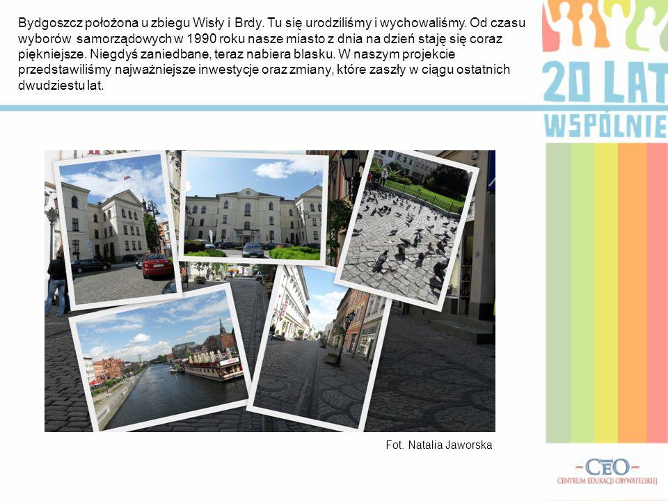 Bydgoszcz położona u zbiegu Wisły i Brdy