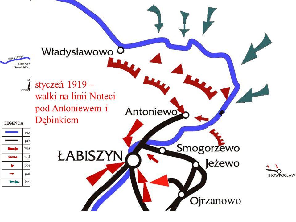 , styczeń 1919 – walki na linii Noteci pod Antoniewem i Dębinkiem